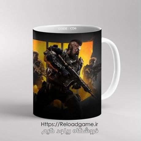 ماگ طرح بازی Call of Duty   کد CD6