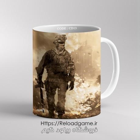 ماگ طرح بازی Call of Duty | کد CD13